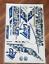 Cricket Bat Stickers Embossed Spartan MSD Blue Camo