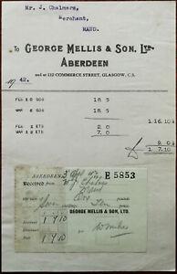 George-Mellis-amp-Son-Aberdeen-Billhead-3rd-April-1942