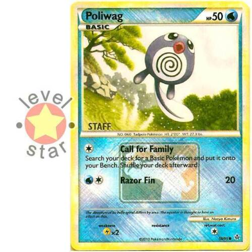 POLIWAG STAFF Promo City Championship Event Stamped Unleashed 58//95 Pokemon Card
