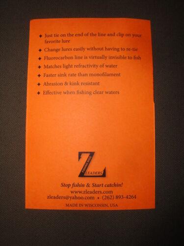175# MUSKY CRANE SWIVEL PIKE FLUOROCARBON LEADERS 3-Pack MUSKIE LEADER