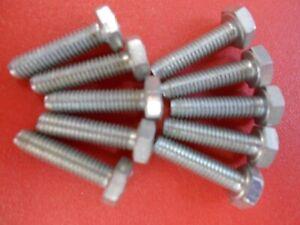 10 Boulons Vis Acier M4 4x19mm - Tète Hexagonale 7mm