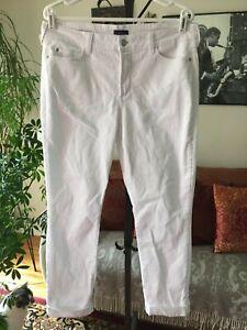NYDJ-Not-Your-Daughters-Jeans-sz-14-White-Stretch-Denim-Leanne-Boyfriend-Jeans