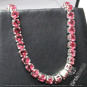 Classic-Round-Ruby-Tennis-Bracelet-18k-Gold-Plated-Women-Gemstone-Jewelry-Gift