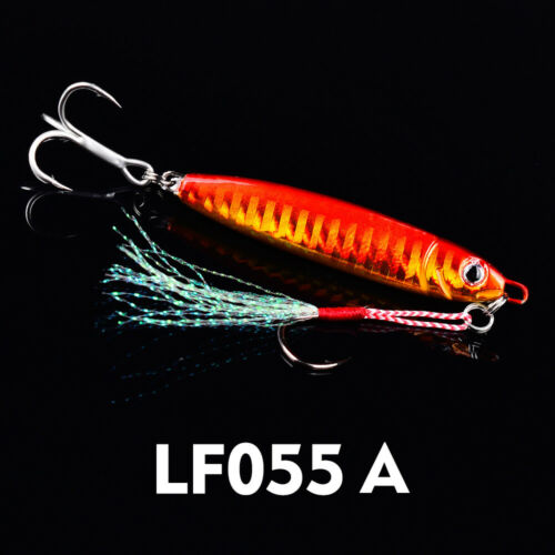 6x 15 20 30g Jigs Fishing Lures Sinking Metal Spoons Micro Jigging Bait Hooks