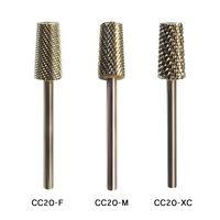 Cc20 Medicool Acrylic Uv Gel Nail Drill Bit 3/32 Large Barrel Two Way Cut