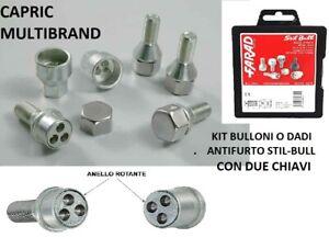 KIT BULLONI ANTIFURTO STIL BULL FARAD PER FIAT PANDA 2012-/> COD A1