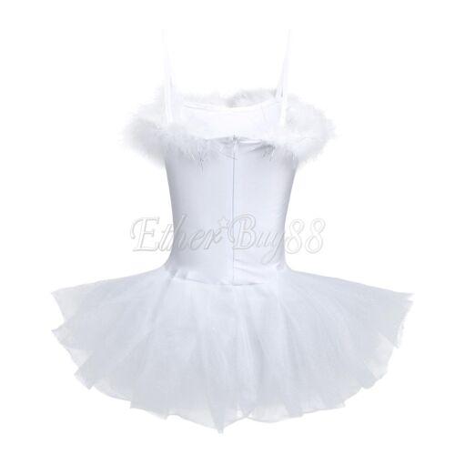 Kids Girls Ballet Dance Leotard Dress Toddler Gymnastics Bodysuit Tutu Dancewear