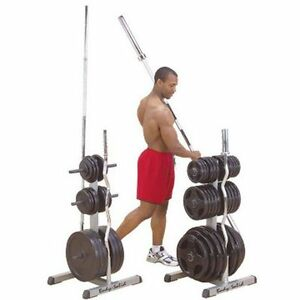 La foto se está cargando Plate-Weight-Rack-Olympic-Tree-Stand-Storage-Home-  sc 1 st  eBay & Plate Weight Rack Olympic Tree Stand Storage Home Gym Exercise ...