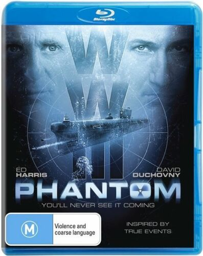 1 of 1 - *BRAND NEW & SEALED* Phantom (Blu-ray, 2013) Region B AUS. Ed Harris / Duchovny