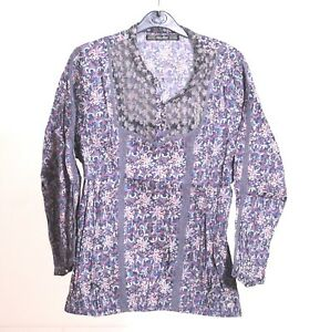 Collection M Pattern Blouse Multi Women's Sleeve Replay Floral Size Fashion Long z4aZXOqnx