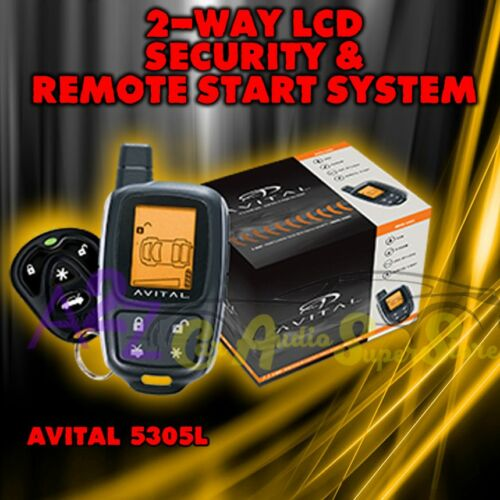AVITAL 5305 REPLACES 5303 2 WAY REMOTE START CAR ALARM SECURITY 5305L DBALL2