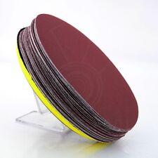 "25X 7"" Sandpaper Sanding Disc Hook Loop Polishing 240# W/ Backing Pad New"