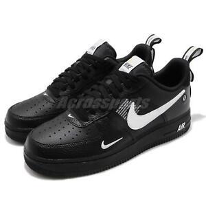 6f5f2e247f9 Nike Air Force 1 07 LV8 Utility Black   White Mens Shoes AF1 ...