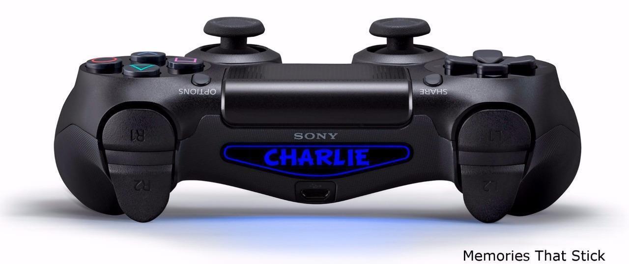 2 PS4 Playstation Controller Custom Light Bar Personalised Decal Sticker v3