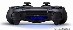 2 x PS4 Playstation Controller Custom Light Bar Personalised Vinyl Decal Sticker