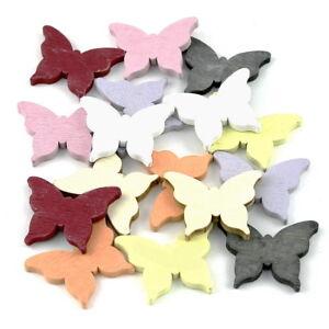 Möbel & Wohnen Schmetterlinge Bunt Mix/ 5cmx4cm Dick 0,5cm *** Hochzeitsdekoration FleißIg 16x Streuartikel Holz