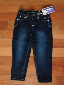 ~Justice~ Jegging *Crops Peddle Pushers* Girls Size 8 Dark Wash STRETCH NEW