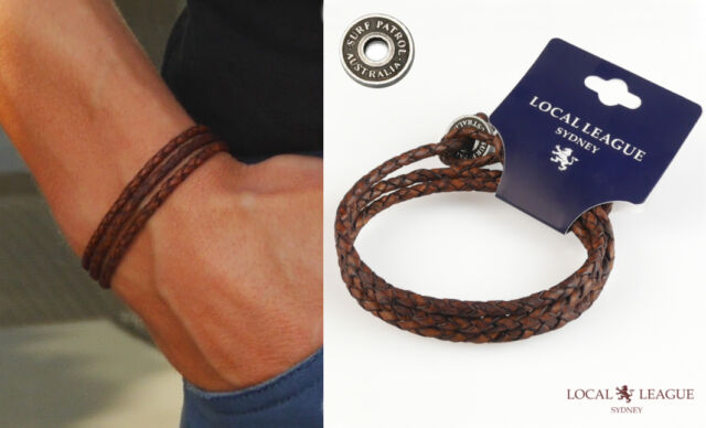 AUSTRALIAN BRAND MENS SURFER LEATHER BRACELET WRISTBAND CUFF WRAP GIFT BOY WOMEN
