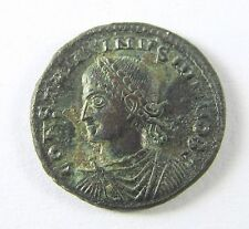 +317-337 AD CONSTANTINE II, SHARP Bronze AE of Siscia NOB CAES - 18mm; 2.9g