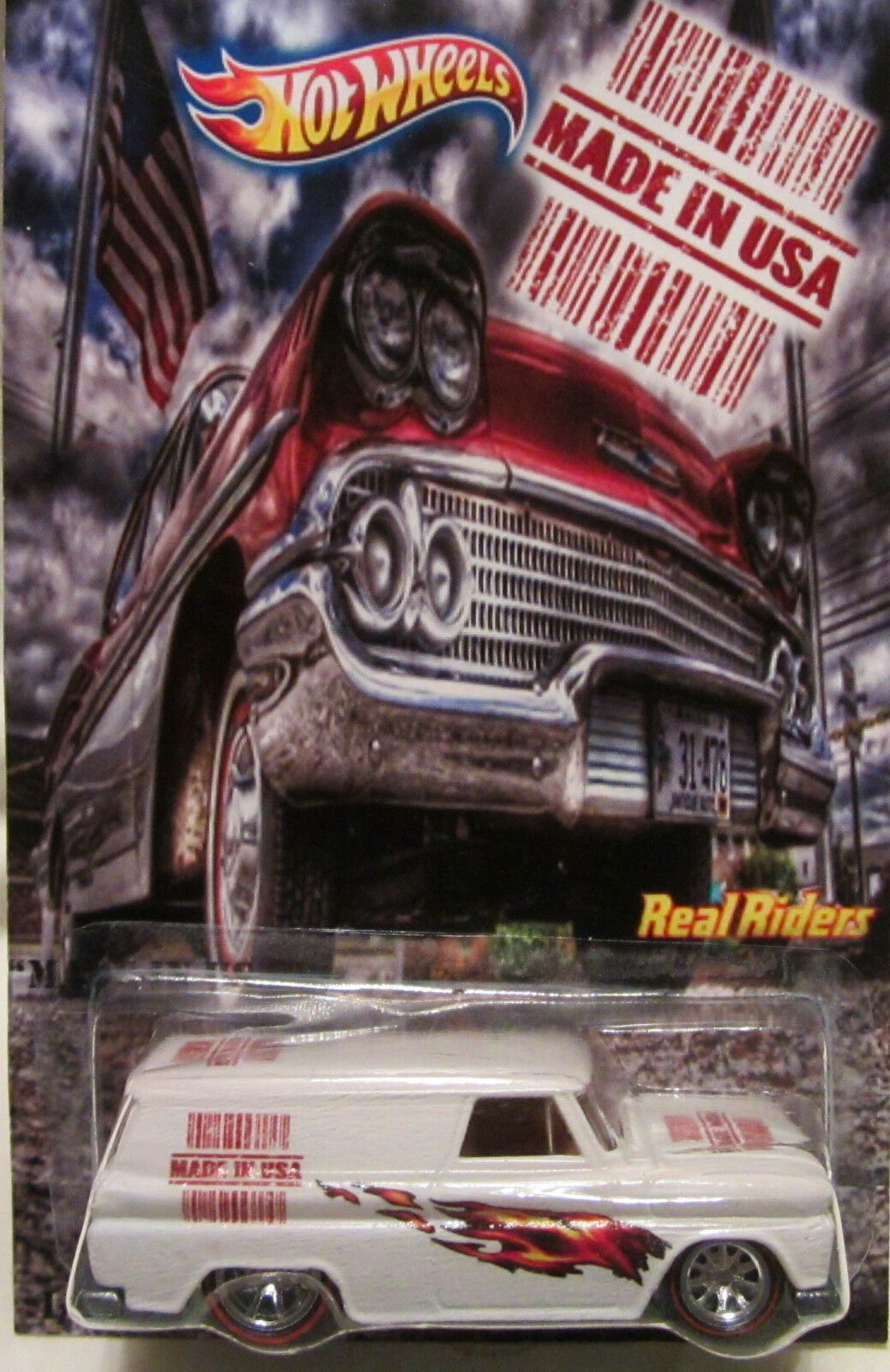 Hot Wheels CUSTOM '64 GMC PANEL  Made in USA  Real Riders LTD 1 25 Made