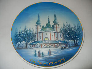 Rosenthal-Christmas-Plate-1988-Waldsassen-Pilgrimage-Church-Meine-Item-No-8