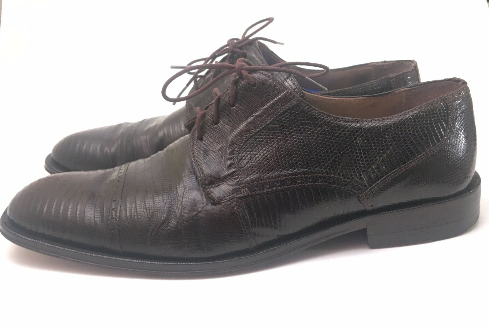David Eden Men Leather braun Lizard Oxford schuhe Größe 11
