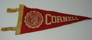 8-1-2-034-Old-Vintage-1950s-CORNELL-UNIVERSITY-ITHACA-NEW-YORK-IVY-LEAGUE-PENNANT