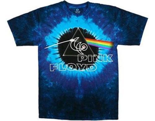 Official licensed-pink floyd 40TH concentrique tie dye t shirt rock dark side