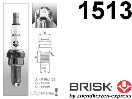 4 Stück by Zuendkerzen-Express BRISK Premium Racing AOR10LGS 1513 Zündkerzen