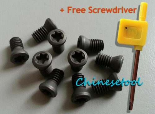 50pcs M2.5 x 8mm Insert Torx Screw for Carbide Inserts Lathe Tool /& Screwdriver