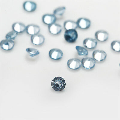 100pcs 1mm~3mm 106# Blue Round Shape Synthetic Spinel Synthetic Gemstone