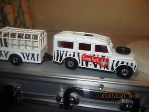 CORGI TOYS Gift Set 31. GAME Park SAFARI LAND ROVER e camion ORIGINALE