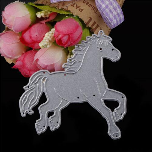 Horse Metal Cutting Dies For Scrapbooking Embossing DIY Paper Cards Decor TWUK