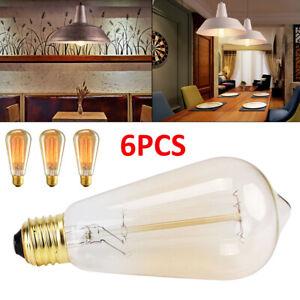 6pcs-40W-Vintage-Retro-Filament-Edison-Light-Bulb-E27-Industrial-Lights-UK