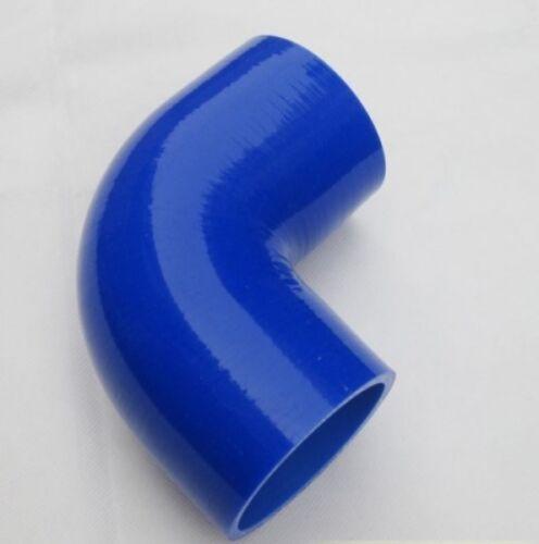 Bleu Durite Silicone coudé 90° SC SPORT lg.90 mm VENDEUR FRANCAIS 83 mm int