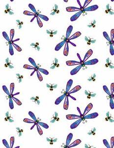 Wilmington-Prints-Dragonflies-amp-Bee-s-White