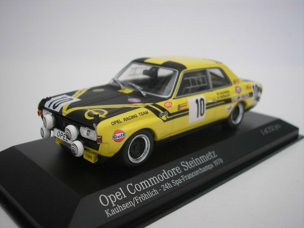 OPEL COMMODORE A PIETRA Metz #10 24h Spa Francorchamps Kauhsen 1/43 Minichamps Nuovo