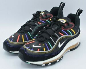 Nike-Air-Max-98-Game-039-Black-Multi-039-CJ7393-001-GS-Size-6Y-Women-039-s-7-5-Authentic