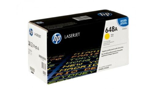 HP CE262A Toner Cartridge Yellow 648a LaserJet  Genuine NEW