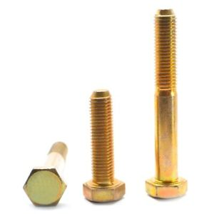 5//16-18 x 1-1//4  NC Hex Cap Screw Grade 8 Zinc /& Yellow 200 per box