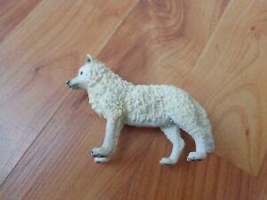 """3"""" SCHLEICH RETIRED 2005 WHITE ARCTIC WOLF ANIMAL TOY FIGURE 14742"""