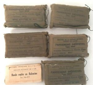 Lot-de-6-pansements-individuels-type-1949-service-sante-de-l-039-Air