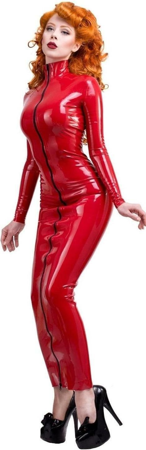 Westward Bound Ceres Latex Hobble Dress Red