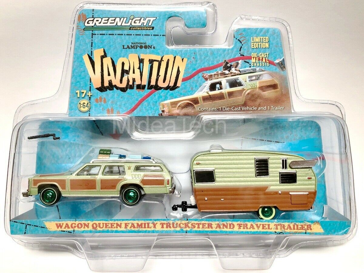greenlight entertainment vacation wagon queen family truckster car 1.64 scale limited edition diecast model