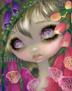 Jasmine-Becket-Griffith-art-print-fairy-SIGNED-Poisonous-Beauties-IX-Foxgloves