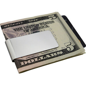 Mens-Stainless-Steel-Metal-Silver-Money-Cash-Note-Thin-Holder-Clip-Gift-Wallet