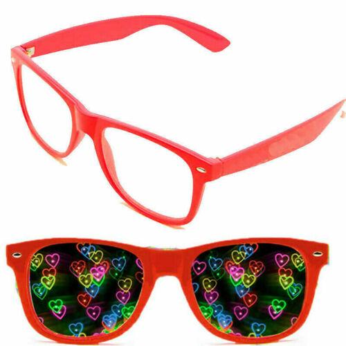 Rave Lights Sonnenbrille Beugungsbrillen mit herzförmiger Brille siehe Herzen!