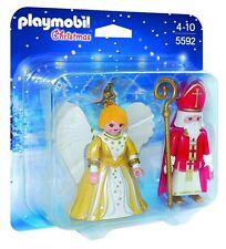 New! PLAYMOBIL 5592 St. Nicholas & Christmas Angel Play Set Ages 4-10