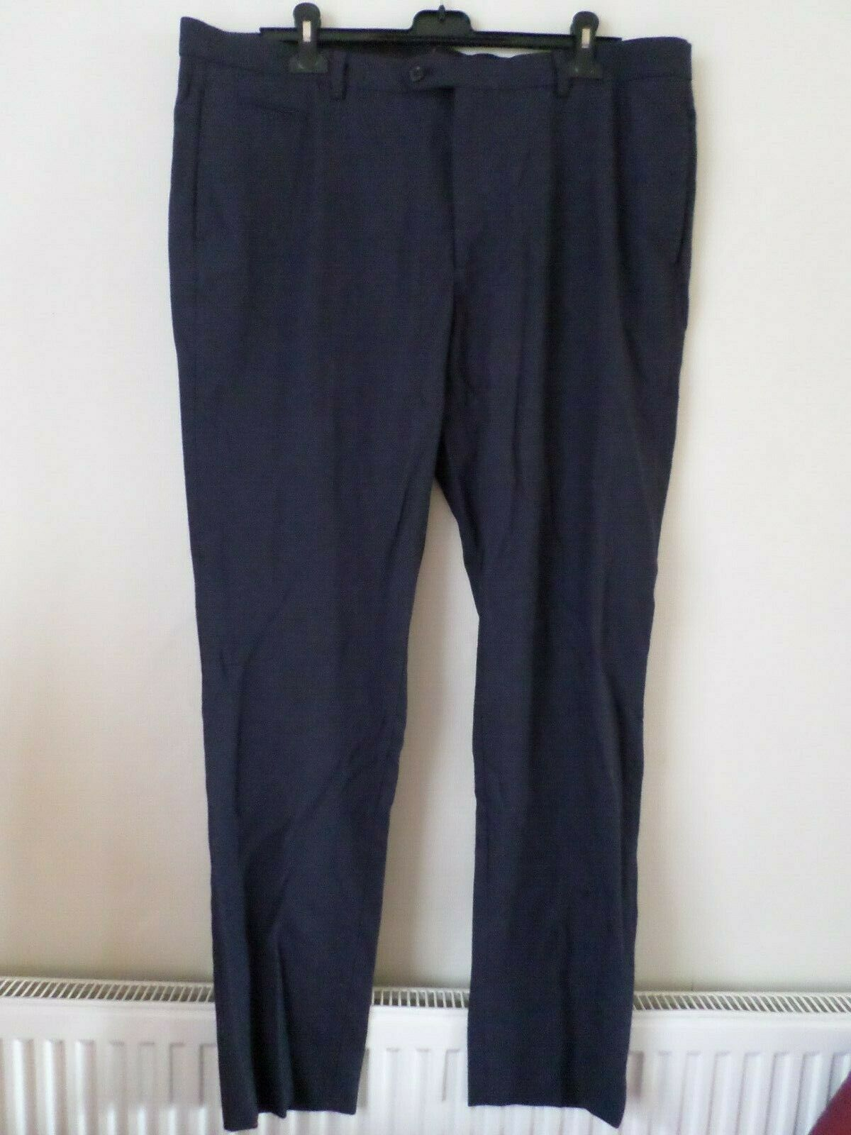 New Mens Massimo Dutti Navy bluee Cotton Textured Trousers Size  RRP .95