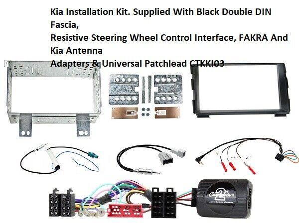 Pro Ceed Double Din Car CD Fascia Fitting Kit For Kia Ceed
